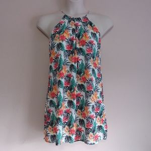 Lucy Love Late Night Dinner Dress Tropical Print